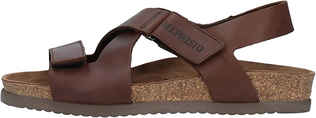 Mephisto Chaussure Sandale TADEK Marron cuir 3451 Homme