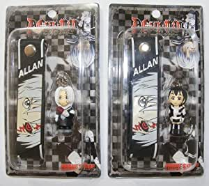 "D. Gray Man Strap & Keychain, a Set of 2 Pcs, 1,25"", Style May Same, #70725"