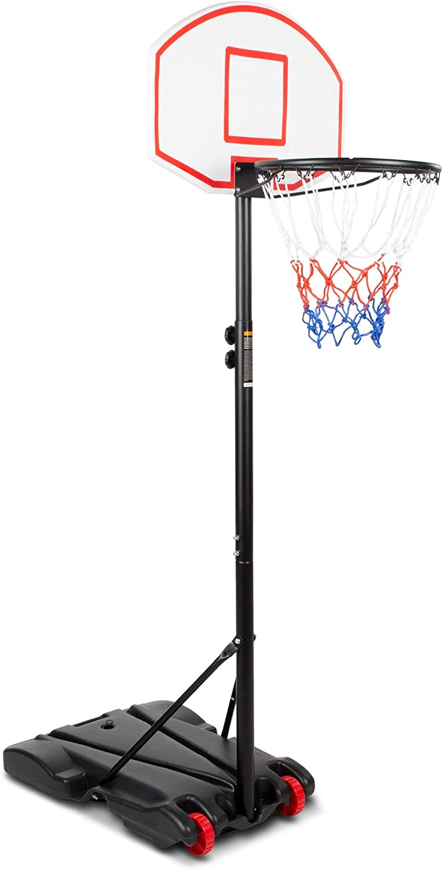 HAILIN Basketball Stand Portable Kid Teenager Indoor Outdoor Basketball Stand Outdoor Free Standing Portable Adjustable Basketball Hoop Maxium Applicable Ball Model 7#