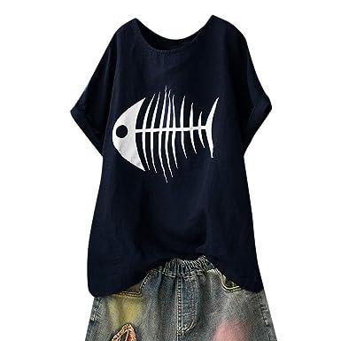 Susen Estampado De Pescado Blusas De Mujer De Moda 2019 Verano Camiseta Mujer Increibles Elegantes Verano Conjunto Falda Y Blusa Mujer Elegante