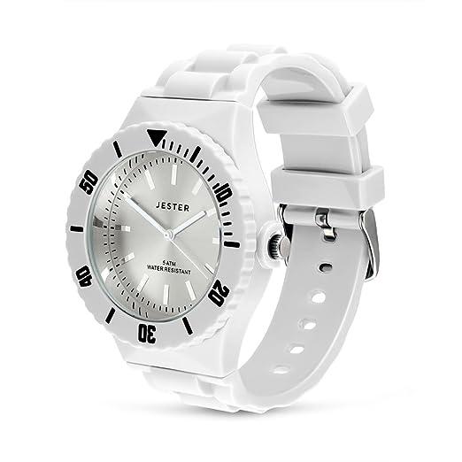 b217fa266c72 Jester intercambiables blanco reloj de pulsera deportivo