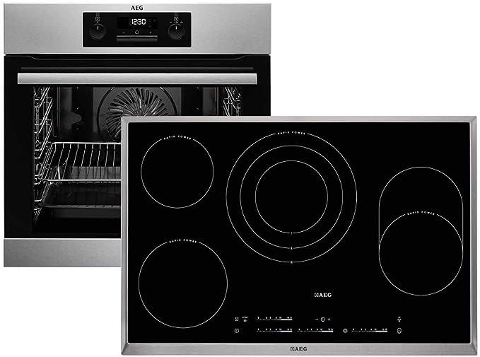 AEG BPB333-1 HK854870XB - Juego de horno y placa vitrocerámica: Amazon.es: Grandes electrodomésticos