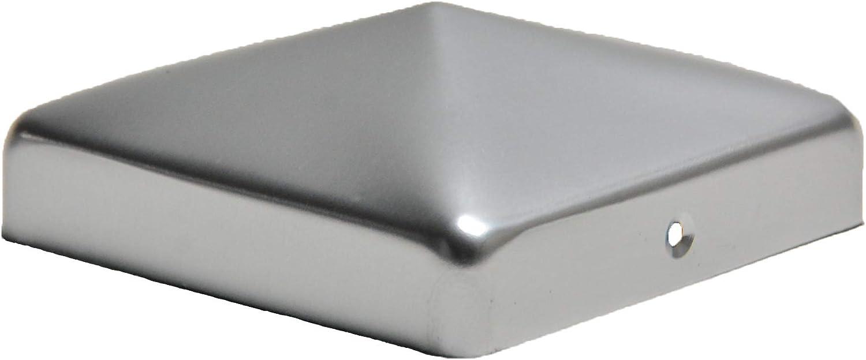 VA-Schrauben 12x12 cm Pfostenkappe schwarz mit Kugel f/ür Pfosten inkl