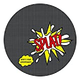 BooginHead - SplatMat Protective Floor Mat for High Chairs, Picnics, Art Projects, Toddler Play Time - Super Power SPLAT!, Black, White, Red, and Yellow