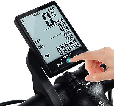 Wisdomx Ordenador de Bicicleta de 2,8in, Velocímetro de Bicicleta ...