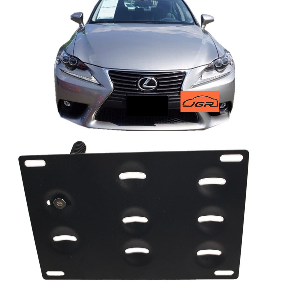 excluding 2008-2013 IS with F Sport bumper JGR drill Tow Eye Front Bumper Tow Hook License Plate Mount Bracket Holder Adapter Relocation Kit For Lexus 2006-up Lexus IS and 2011-2017 CT