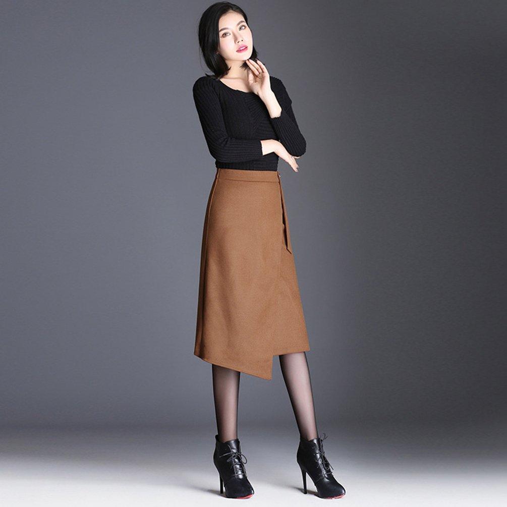 7f8ea67615 YiLianDa Women's High Waisted Woolen Skirt Long Skirt A Line Skirt Midi  Skirt Warm Dress Autumn Winter Maxi Skirt: Amazon.co.uk: Clothing