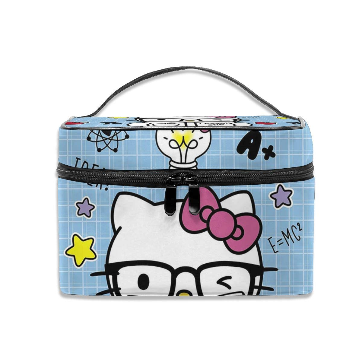 Cosmetic Bag Back To School Hello Kitty Portable Travel Makeup Bag Cosmetics Organizer Multifunction Toiletry Bags Storage Case