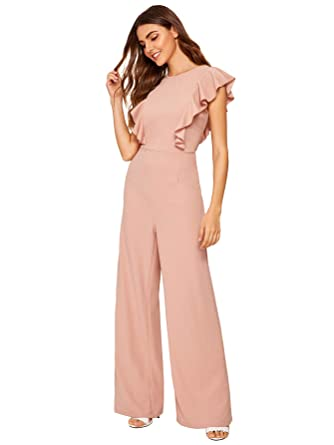Charitable New Women Off Shulder Ruffled Print Casual Loose Wide Legs Jumpsuits With Belt Jumpsuits & Rompers