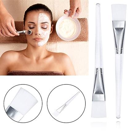 Cepillo de silicona para máscara facial, mascarilla de belleza, herramienta de silicona suave,