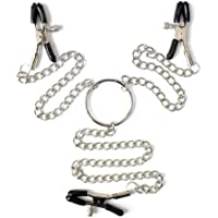 S M Nipplé Clamps with Metal Chain (Size : 3 Clamps)