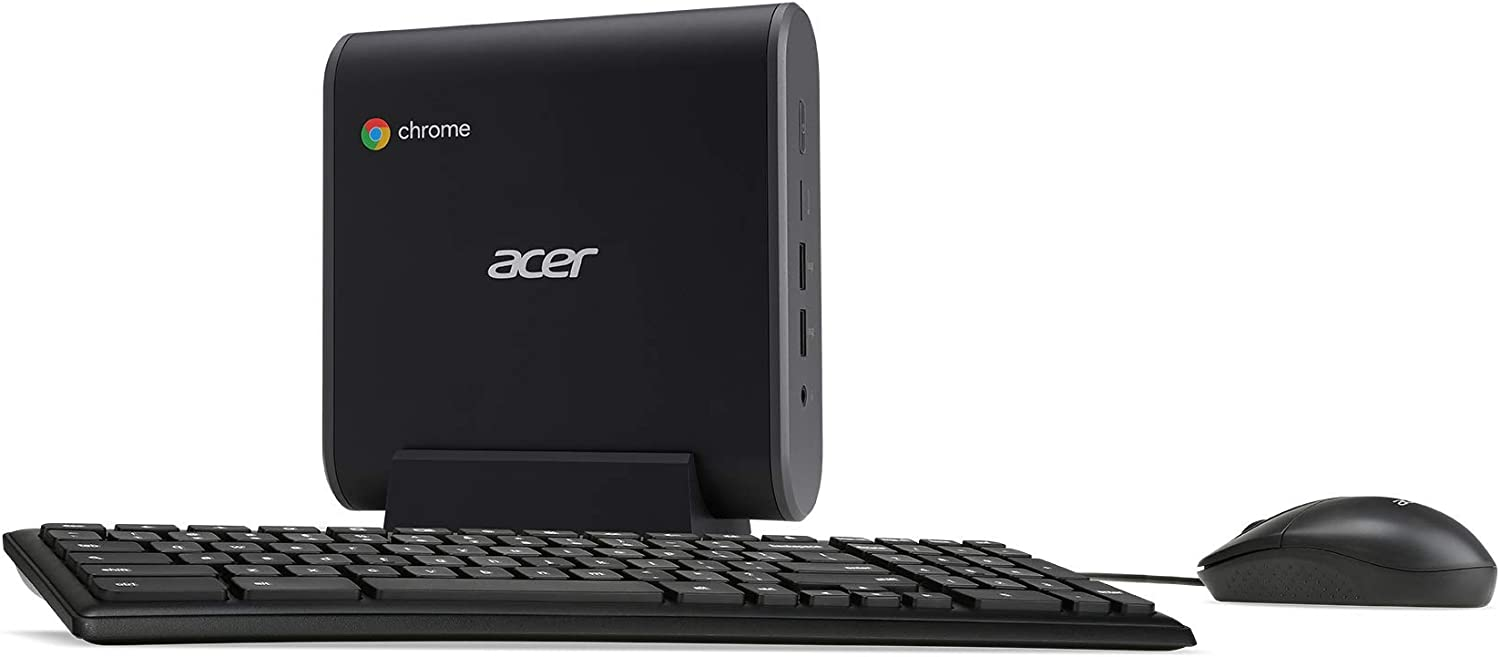 Acer Chromebox CXI3-UA91 Mini PC, Intel Celeron 3867U Processor 1.8GHz, 4GB DDR4 Memory, 128GB M.2 SSD, 802.11ac WiFi 5, USB Type-C, Chrome OS, Keyboard and Mouse Included