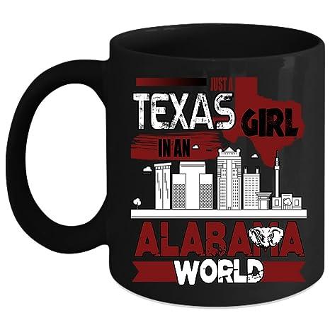 Amazon com: Just A Texas Girl In An Alabama World Coffee Mug