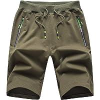 Tansozer Sport korte broek heren shorts katoen met ritssluiting zakken