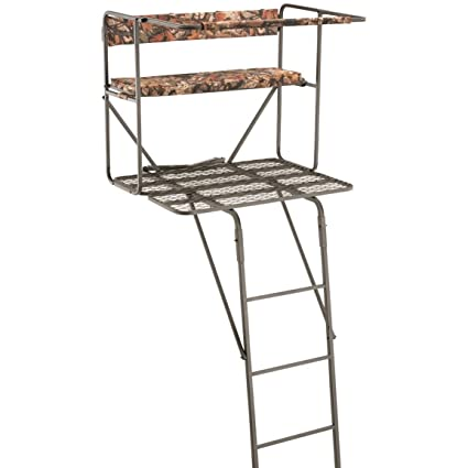 dcbf5ba0078 Amazon.com   Guide Gear 17.5  Deluxe 2 Person Hunting Ladder Tree Stand   Hunting  Tree Stands   Sports   Outdoors