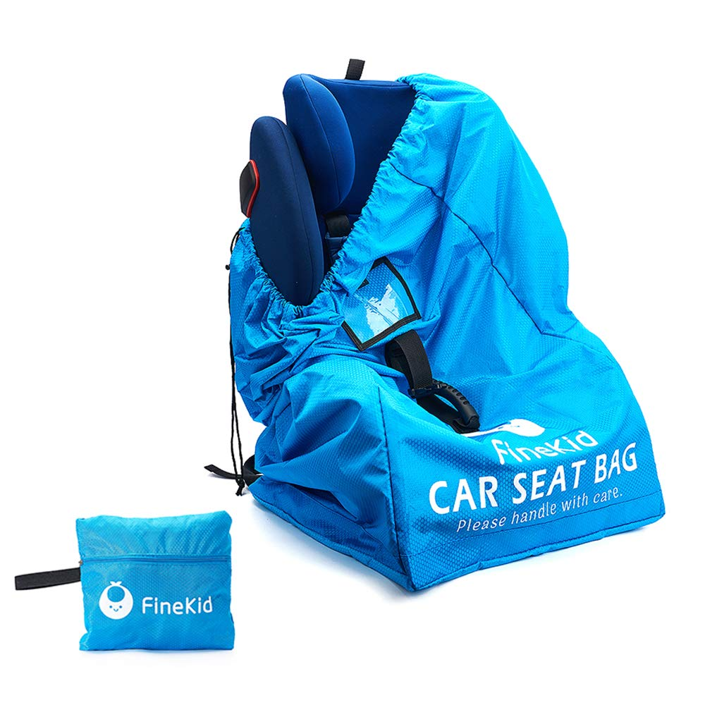 Durable Backpack Car Seat Travel Bag-Infant Seat Travel Bag-Gate Check and Carrier for Travel(Blue) by FINEKID