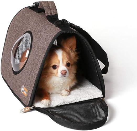 N/ Cat Bag out Portable Winter Kitty Dog Backpack Chest Shoulder Shoulder Chest Bag Cat Cage-Bolsas De Color Café_Los 51 * 28 * 32.5Cm: Amazon.es: Productos para mascotas