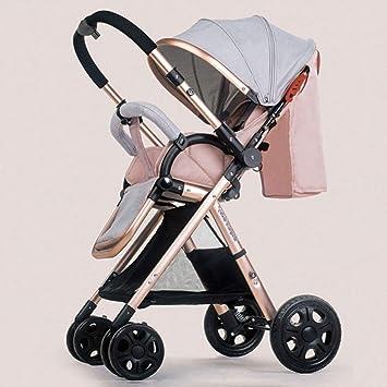 PRAMS Cochecito De Bebé Carro De Dos Vías para Niños Carro De Niños Ligero Sistema De Viaje Bebé Plegable Plegable,Piecingpink: Amazon.es: Hogar