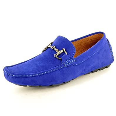 My Perfect Pair New Mens Blue Casual Loafers Moccasins Slip on Driving Shoes  (UK 6