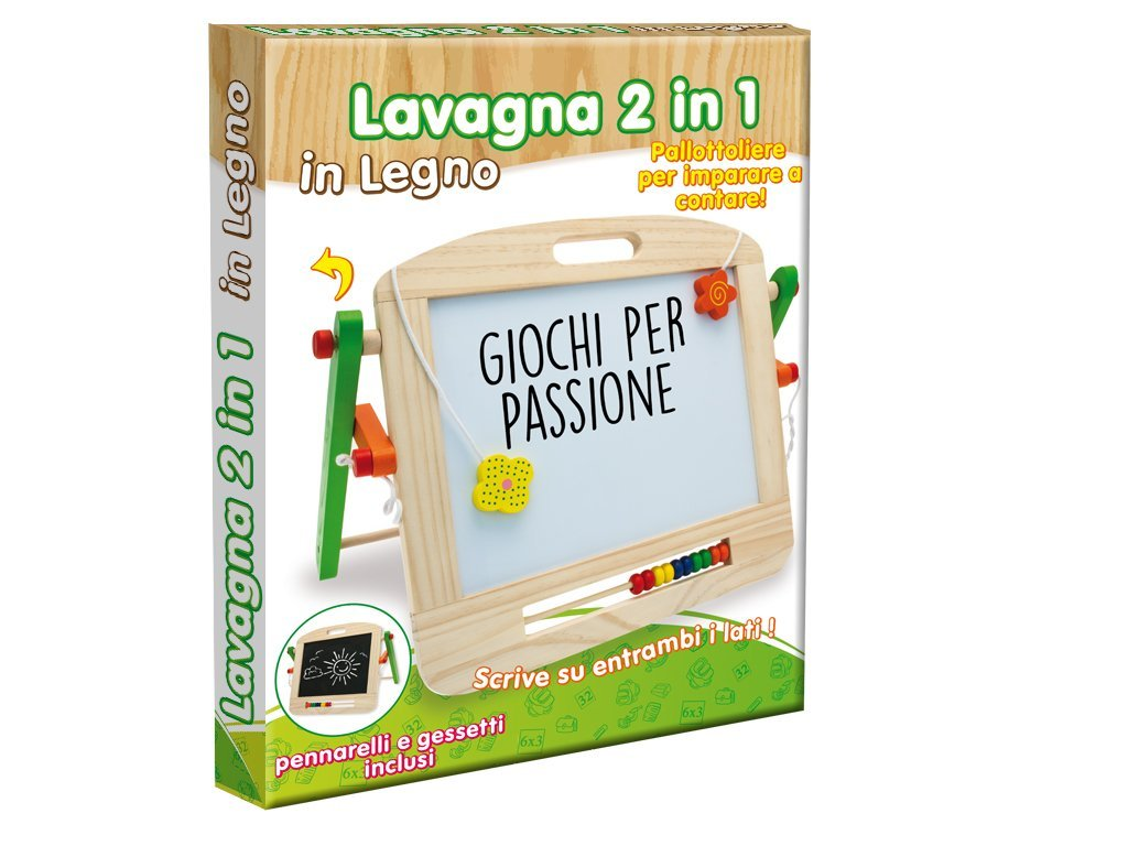 Teorema 40503 Lavagna 2 in 1 in Legno con Pallottoliere