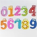 Baby toy, Kolylong Magnetic Wooden Numbers Fridge magnet Math Set for Kids Children sticker