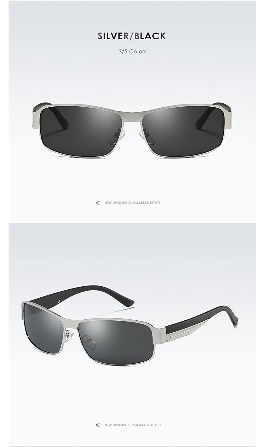 AORON Polarized Sunglass Protect Eyes from UVA//UVB Rays Square Style Men and Women