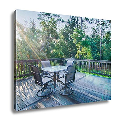 Ashley Canvas Beach House Porch At Sunrise, Wall Art Home Decor, Ready to Hang, Color, 16x20, AG6046024 Array Small Back Chair
