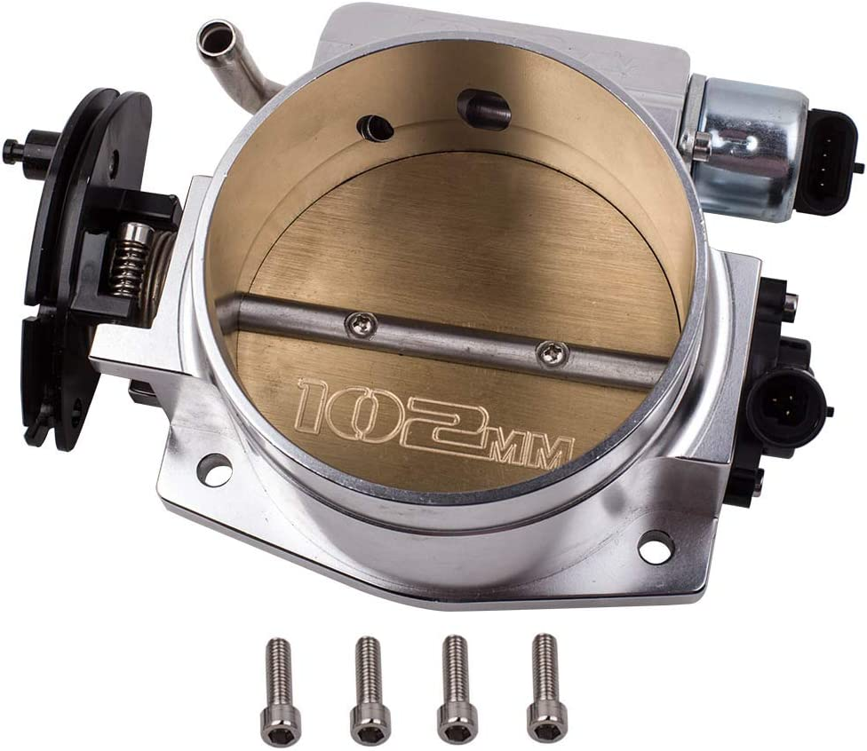 Throttle Body Compatible For LSX LS LS1 LS2 LS7 with TPS IAC Throttle Position Sensor 102mm Silver