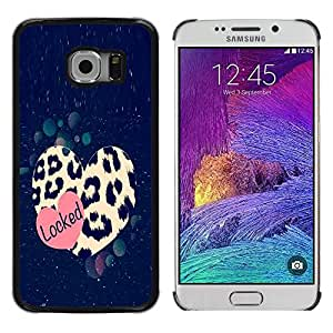 LECELL--Funda protectora / Cubierta / Piel For Samsung Galaxy S6 EDGE SM-G925 -- Cheetah Leopard Pattern Fur Love --