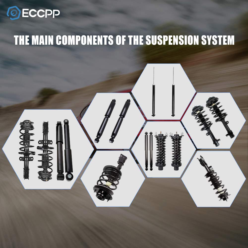 ECCPP Complete Struts Front and Rear Pair Strut Spring Assembly Shock Absorber for 2006-2010 Jeep Commander,2005-2010 Jeep Grand Cherokee Set of 4