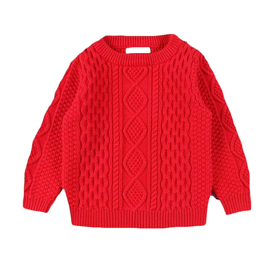 Cromoncent Boys Girl Cute Winter Jumper Knitted Pullover Sweaters