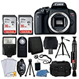 Canon EOS Rebel T7i Digital SLR Camera (Body Only) + 32GB Memory Card + Slave Flash + Quality Tripod + Camera Bag + USB Card Reader + Wireless Remote + 3 Piece Cleaning Kit + Deluxe Accessory Bundle