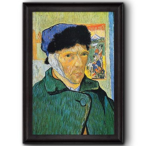 Self Portrait with Bandaged Ear by Vincent Van Gogh Oil Painting Impressionist Artist Framed Art