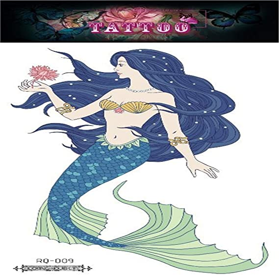Handaxian 2pcs-Ambiental Impermeable sudoroso sueño Sirena Tatuaje ...