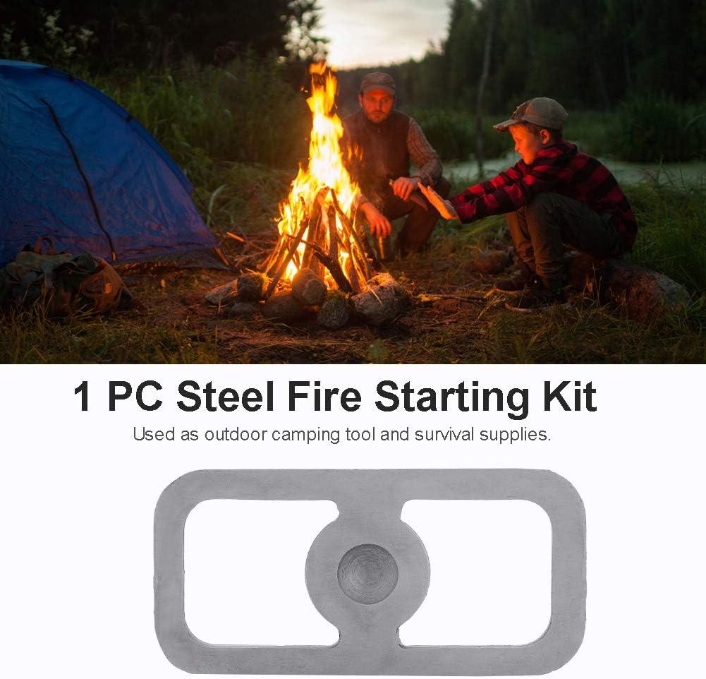Acier /à Haute teneur en Carbone Robuste Durable Camping en Plein air Chasse Outil /à Haute teneur en Carbone Firestarter Outil de Survie Huairdum Outil Firestarter en Acier