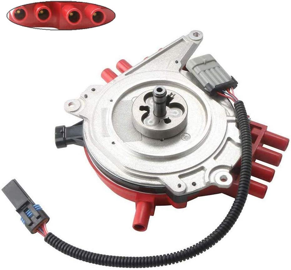 MOSTPLUS Ignition Distributor & Harness Compatible with Optispark LT1 Chevy Camaro Caprice Corvette Replaces 1104032