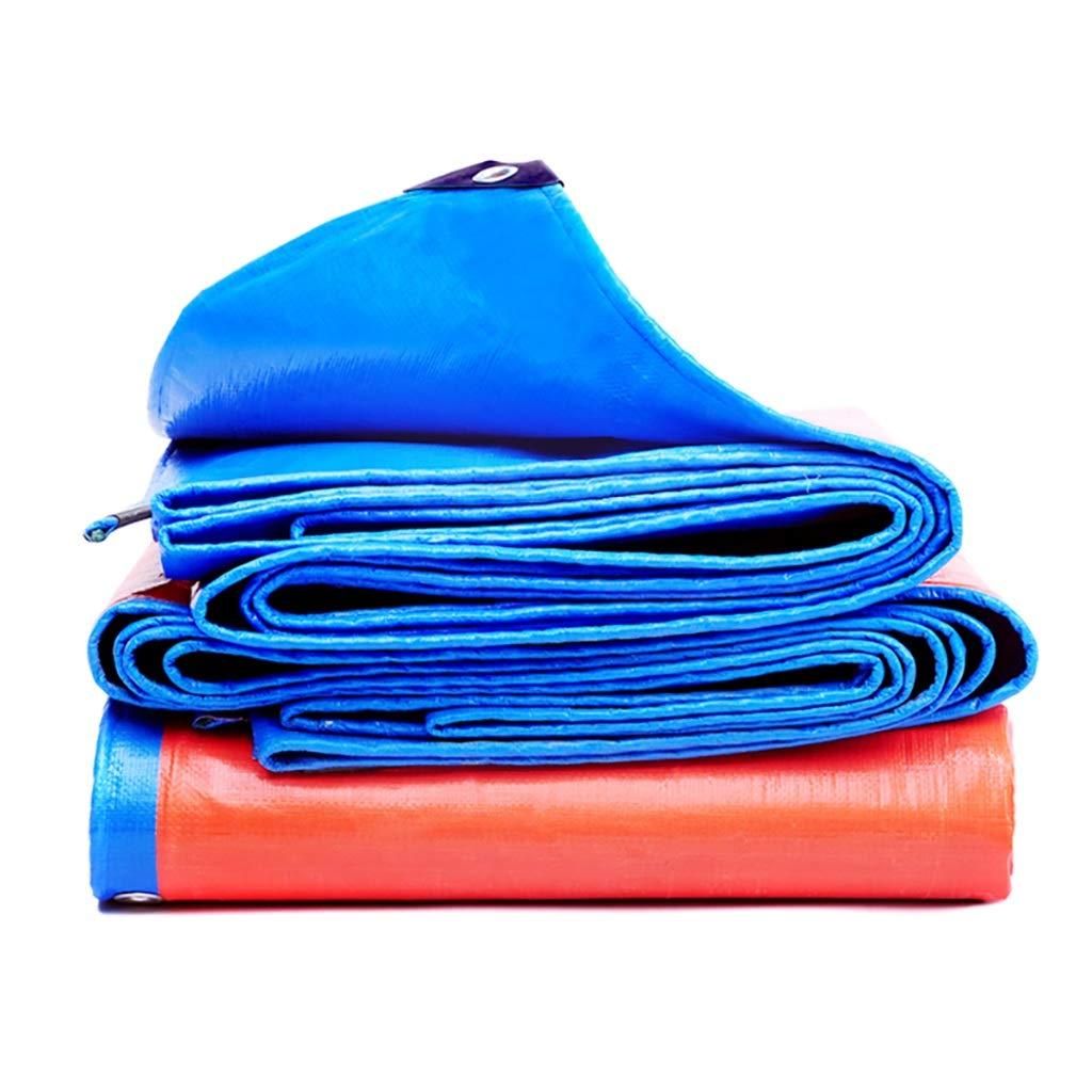 の両面防水ポリエチレン(PE) 防水シート屋外工業用レインオーニングオーニングクロス。 (サイズ さいず : 5x6m) B07RKGN94M  5x6m