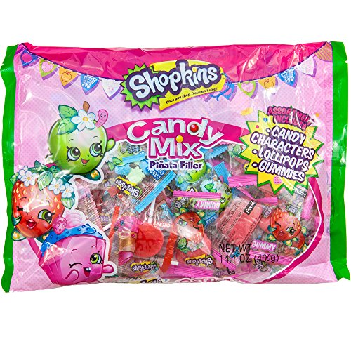 Shopkins Candy Mix Piñata Filler | Candy Characters, Lollipops,& Gummies | Assorted For Parties and Birthday. (Bts Halloween Party)