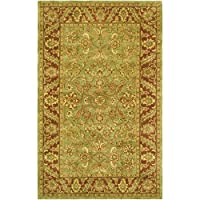 Safavieh Golden Jaipur Collection GJ250A Handmade Green and Rust Premium Wool Area Rug (6 x 9)