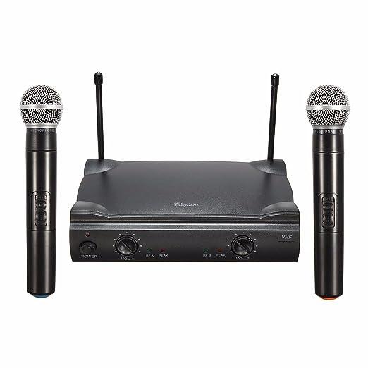 20 opinioni per ELEGIANT VHF Doppio Microfono Wireless Set Microfono Senza Fili Set Microfono