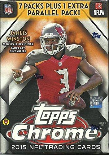 NFL 2015 Chrome Football Cards Trading Card Blaster Box