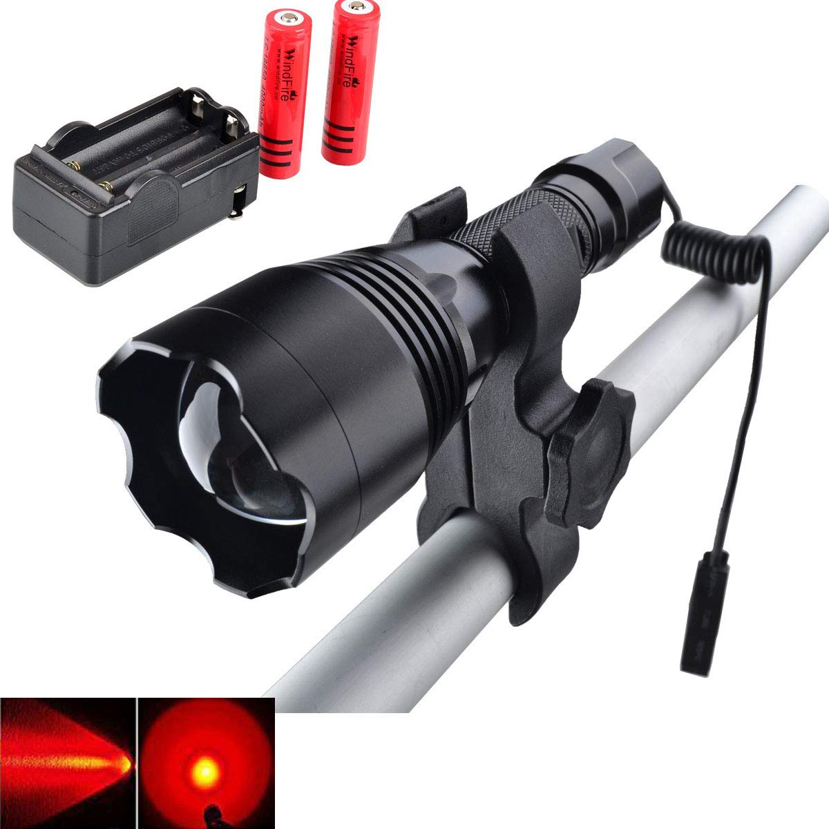 Orion Predator Green Premium 350 yards Rechargeable Hunting Light /& Scope Mount