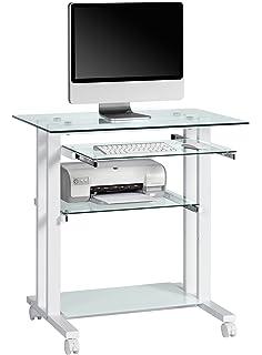 Songmics Bureau informatique table informatique Meuble de bureau