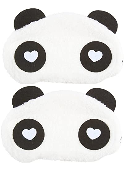 fed3fc8133d Buy Jenna WH Panda Sleeping Eye Mask White (Pack of 2) Online at Low Prices  in India - Amazon.in