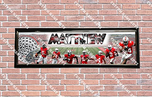 Personalized Customized Ohio State Buckeyes Poster With Frame, With Your Name On It, Party