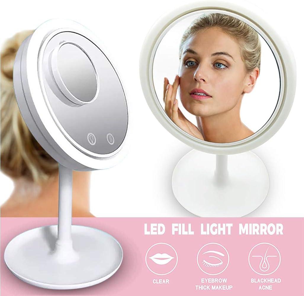 مرآة ذكية USB باضاءة LED و مروحة هوائية ملطفة للبشرة Beauty Breeze, إيمي شيك