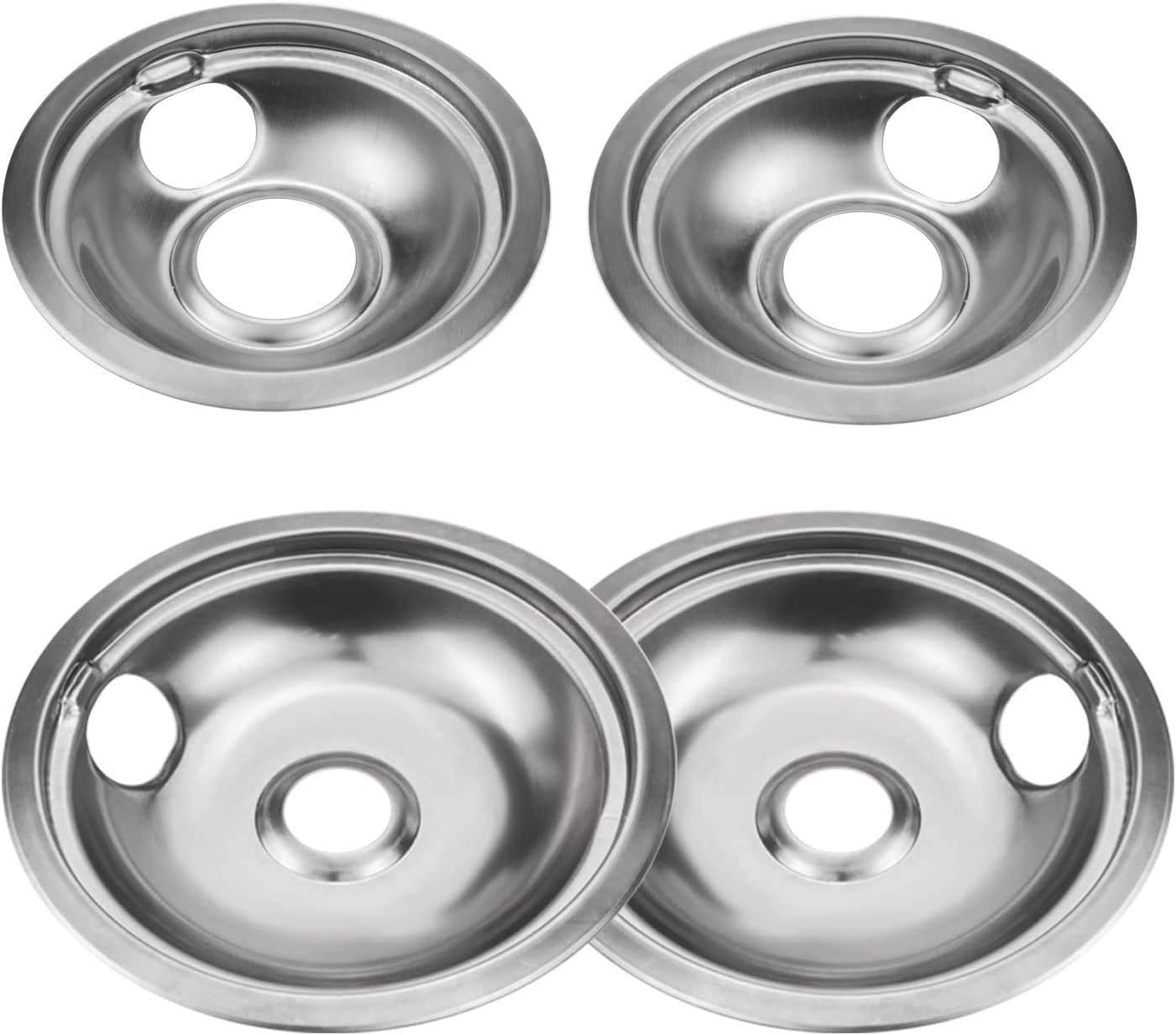 KOHUIPU Stainless Burner Drip Pans Cover Kitchen Porcelain Drip contains (2) 6