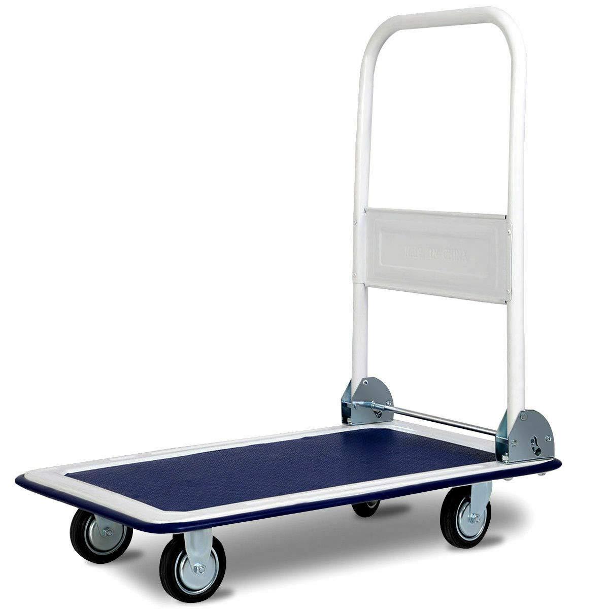 330lbs Platform Cart Dolly Folding Foldable Moving Warehouse Push Hand Truck