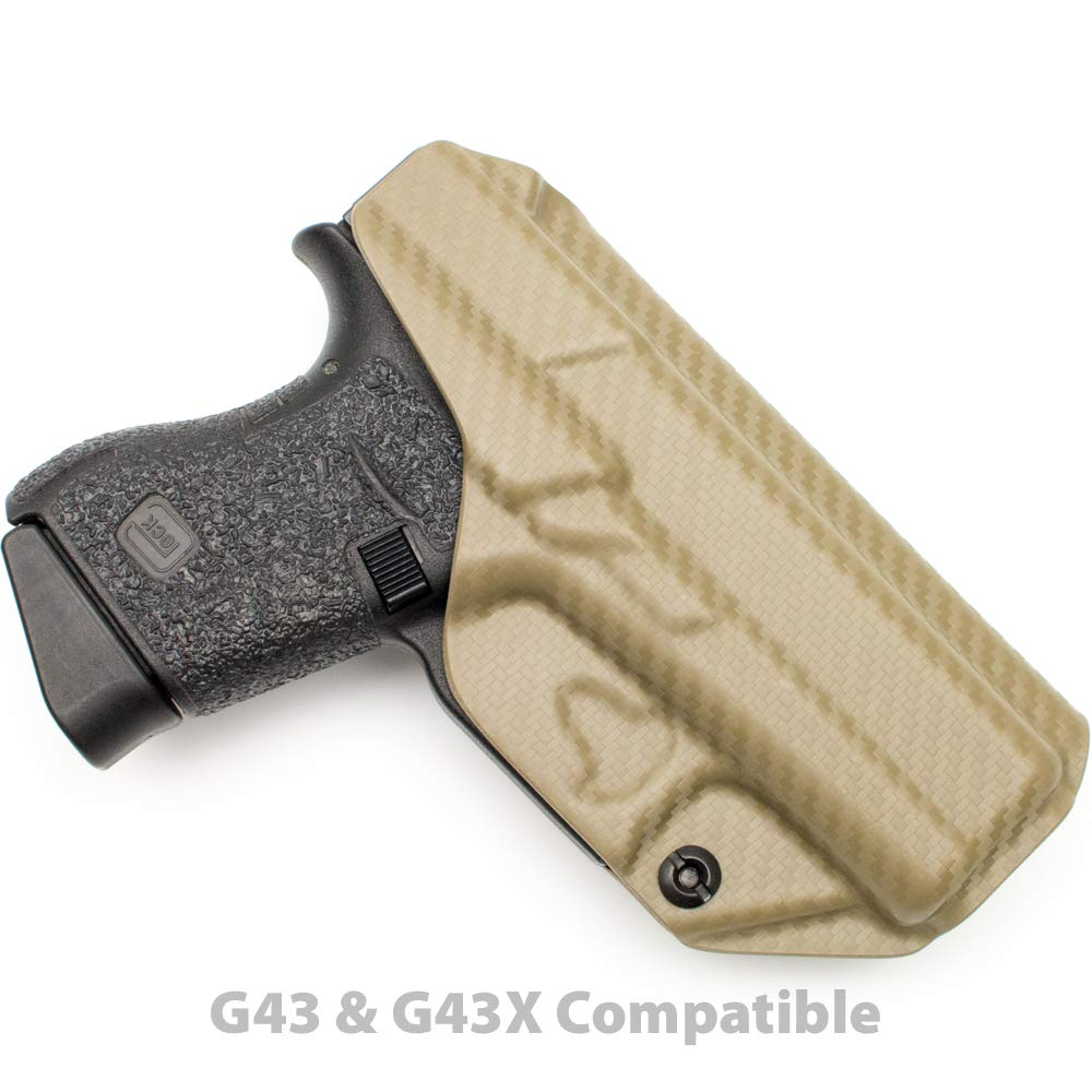 Tulster Glock 43/43X Holster IWB Profile Holster (Flat Dark Earth Carbon Fiber - Left Hand) by Tulster (Image #2)