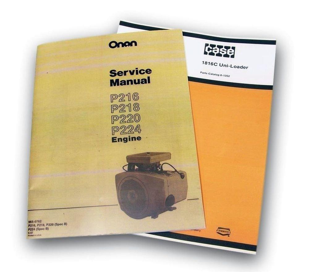 Amazon.com: J I Case 1816C Uni Loader Parts Onan Service Manual Catalog  Skid Steer Assembly: Industrial & Scientific